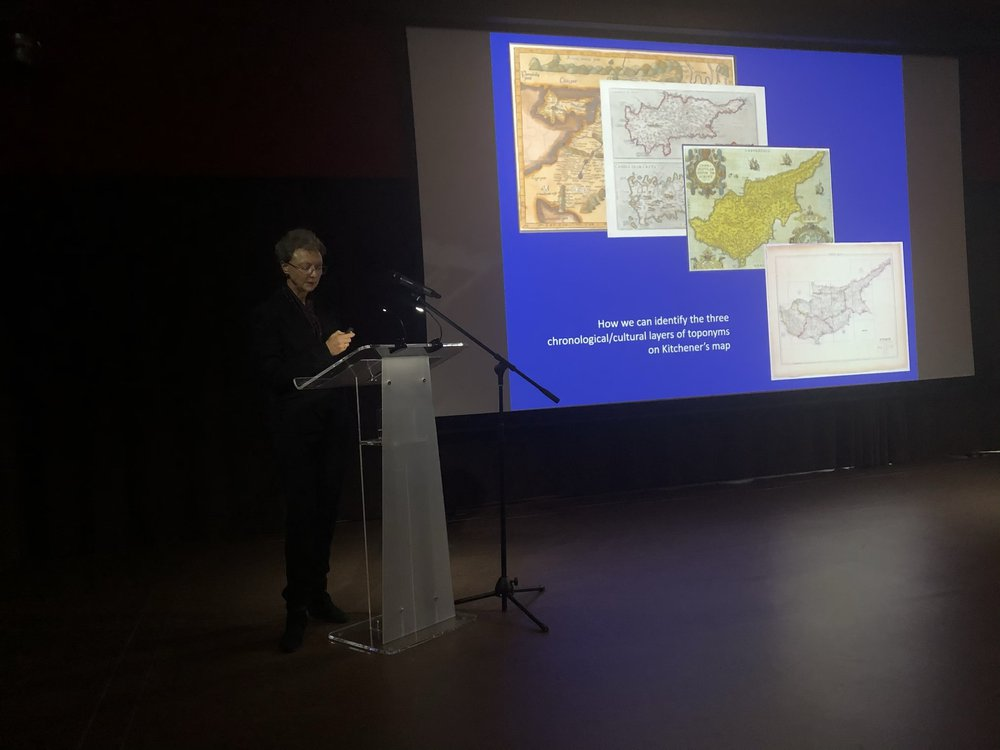 Dr. Maria Iacovou during her lecture.