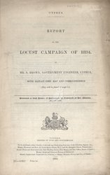 Report On The Locust Campaign Of 1884 ...