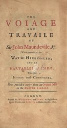 Voiage And Travaile Of Sir John Maundevile ...